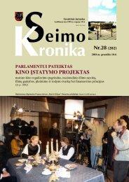 Nr.28 (202) - Lietuvos Respublikos Seimas