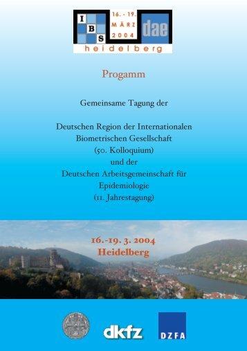 können Sie das Tagungsprogramm als PDF-Dokument - Deutsche ...