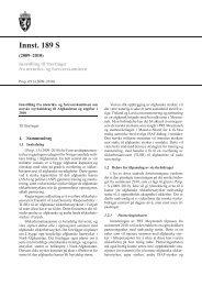 Innst. 189 S - Stortinget