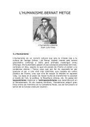 tema 5.l'humanisme, bernat metge