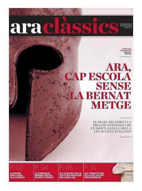ARA, CAP ESCOLA SENSE LA BERNAT METGE ARA, CAP ...