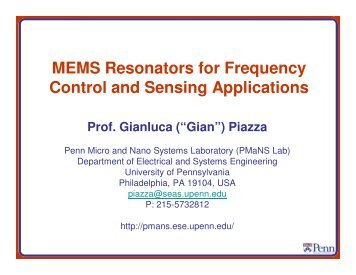 MEMS Resonators for Frequency Control and Sensing Applications