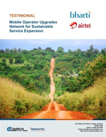 TESTIMONIAL Mobile Operator Upgrades ... - Comtech EF Data