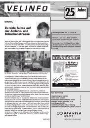 Velinfo Nr. 3/4 - Pro Velo Luzern