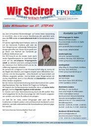 Gemeindekurier Ausgabe 2-2011 - FPÖ Steiermark