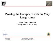 Probing the Ionosphere with the Very Large Array
