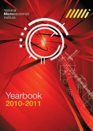Year Book 2010/11 - National Microelectronics Institute