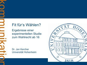 Fit für's Wählen? - Landeszentrale für politische Bildung Rheinland ...