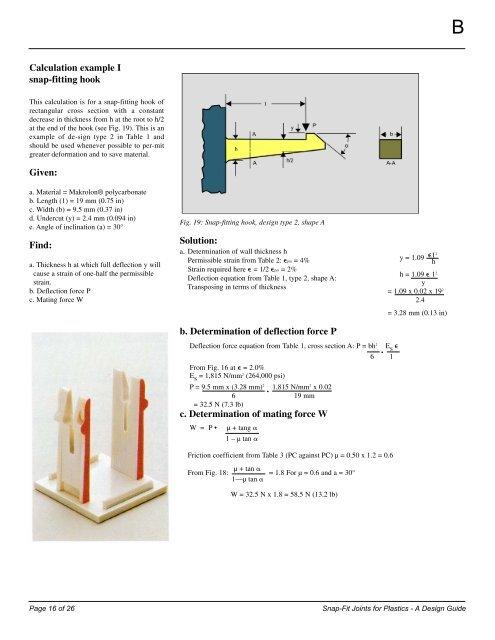 Calculation example I sna