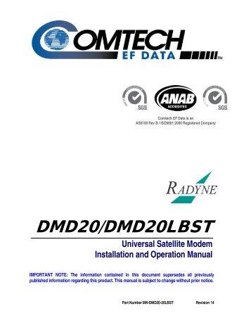 DMD20/DMD20LBST - Comtech EF Data