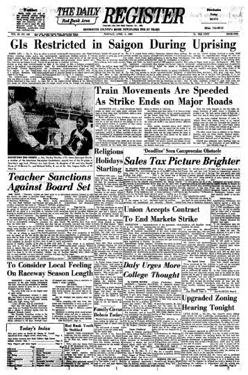 GIs Restricted in Saigon During Uprising - Red Bank Register Archive