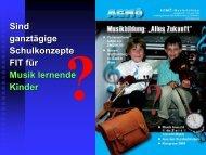Musikschule: Sind ganztägige Schulkonzepte FIT für Musik