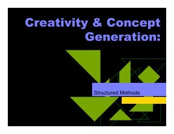 Creativity & Concept Generation: - Berkeley Expert Systems ...