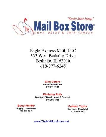 333 West Bethalto Drive Bethalto, IL 62010 - The Mail Box Store
