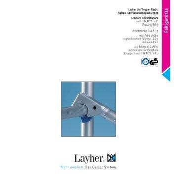 Aufbau - Layher
