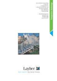 Temporäre Aufstiege - Layher