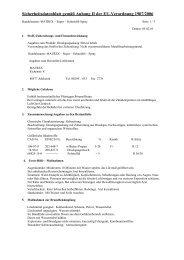 EG-SICHERHEITSDATENBLATT gemäß 91/155/EWG