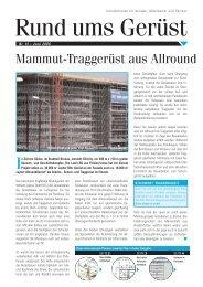 Mammut-Traggerüst aus Allround - Layher
