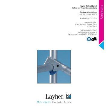 Uni Breit - Layher