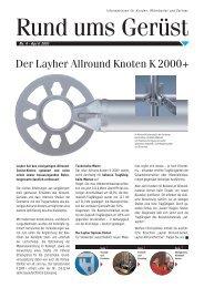 Der Layher Allround Knoten K 2000+