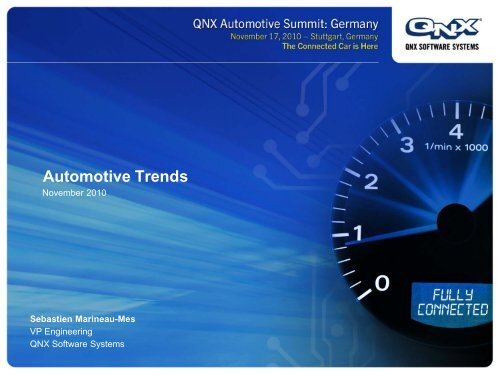 Automotive Trends Qnx Software Systems
