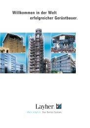 Layher - Produktübersicht