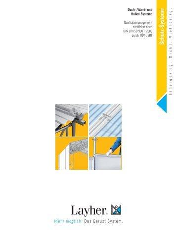 Layher Dach-Systeme Übersicht Schutz-Systeme