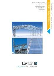 Leichtkassettendach-System - Layher