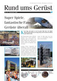 Super Spiele, fantastische Fans, Gerüste überall - Layher