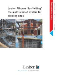 Allround - The multitalented system for building sites - Layher