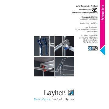 Uni Breit P2 - Layher