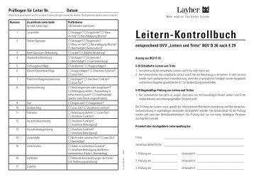 Leitern-Kontrollbuch - Layher