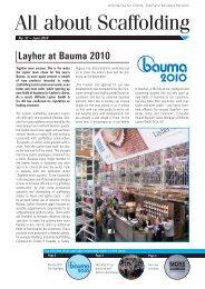 Layher at Bauma 2010
