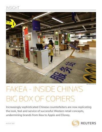 FAKEA - INSIDE CHINA'S BIG BOX OF COPIERS - Thomson Reuters