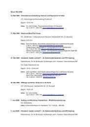 Stand: Mai 2008 14. Mai 2008 Informationsveranstaltung: Demenz ...