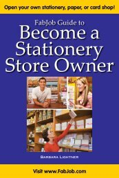 Become a Stationery Store Owner - Fabjob.com