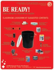 Recommended Emergency Preparedness Supplies (PDF) - OEHS