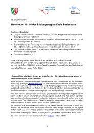 20. Dezember 2011 - Newsletter Nr. 14 aus der - Kreis Paderborn