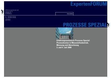 ExpertenFORUM PROZESSE SPEZIAL - LBD  ...