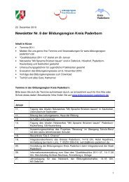 20. Dezember 2010 - Newsletter Nr. 8 der ... - Kreis Paderborn