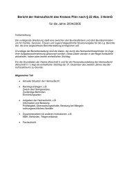 Bericht der Heimaufsicht des Kreises Plön nach § 22 ... - Kreis Plön
