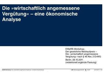 Die »wirtschaftlich angemessene Vergütung - LBD ...