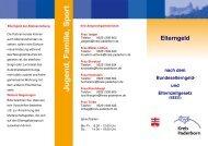 Info-Flyer zum Elterngeld - Kreis Paderborn