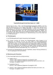 Taxentarifordnung für den Kreis Soest
