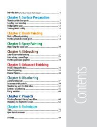 Chapter 1: Surface Preparation Chapter 2: Brush Painting Chapter 3 ...