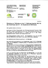 Einladungsschreiben - Kreis Soest
