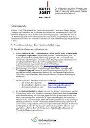 Merkblatt Heimtierausweis - Kreis  Soest