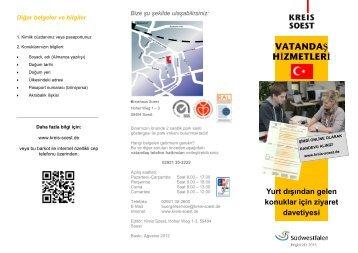 VATANDAŞ HİZMETLERİ - Kreis Soest