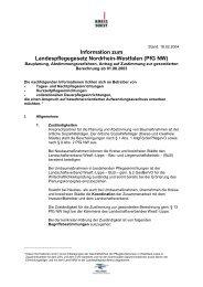 Information zum Landespflegegesetz  Nordrhein ... - Kreis Soest