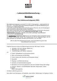 Merkblatt Infektionsschutzgesetz - Kreis Soest
